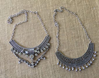 Statement necklaces/ metal necklace/ industrial necklaces/ rustic necklace/ industrial jewelry/ metal jewelry/ dangle necklace/bib necklaces