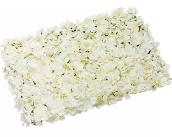 Ivory/Cream Flower Wall Backdrops Silk Rose Hydrangea Floral Wedding Background For Bridal Photography Backdrops Panels 40*60cm