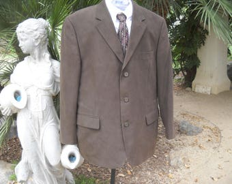 Darker Brown Ultra Suede Jacket by Alfani Exclusively for Macy's, size 44 regular, High quality, versatile design for most special occasions