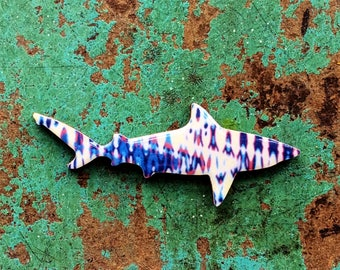 Shark Necklace / Shark Brooch - Bull Shark Necklace or Brooch Handmade by Honoloulou's - Sound Wave