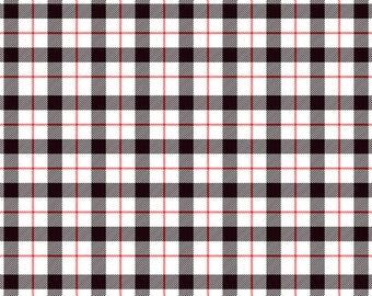 White Black Red Check Plaid Pattern HTV Heat Transfer Vinyl Similar to Buffalo Check Tshirt Material