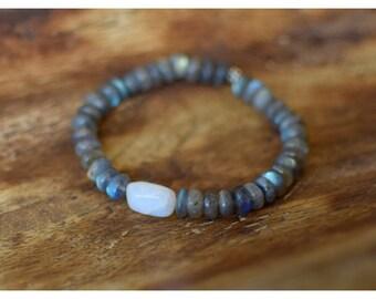Labradorite and Rainbow Moonstone bracelet, Labradorite bracelet, Moonstone bracelet, Rainbow Moonstone bracelet, Labradorite, Moonstone