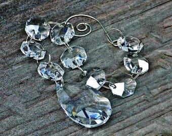 Crystal Rearview Mirror Charm, Window Crystal, Suncatcher, Feng Shui Crystal, Rainbow Crystal, Dancing Light Crystals, Crystal Suncatcher