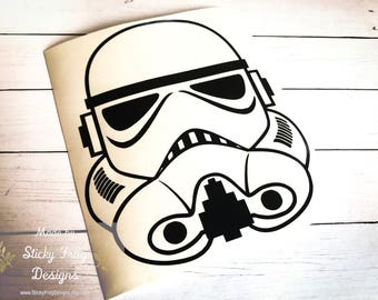 Star Wars Storm Trooper Decal for Cars, YETI Cups, Laptops, and More! | Star Wars Car Decal | Disney Sticker | Darth Vader Decal