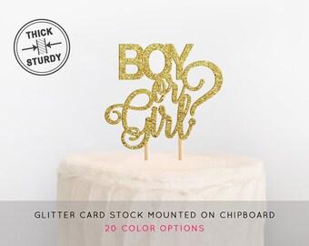 Boy or Girl Cake Topper, Gender Reveal Cake Topper, Baby Shower Cake Topper, He or She Cake Topper, Gender Reveal Decor, Gender Reveal Party