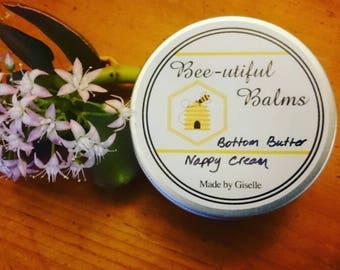 Natural Baby Bottom Butter,  nappy rash cream, diaper rash cream 80ml, no nasties