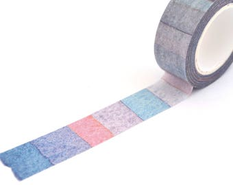 Masking tape wide watercolor stripes