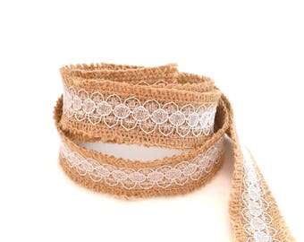 Burlap Ribbon and lace