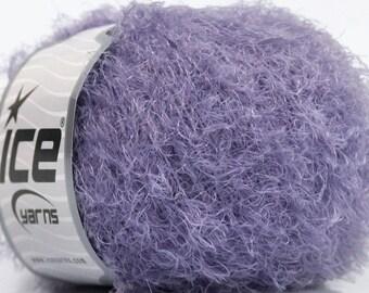 Lilac Eyelash Yarn Fur Knitting Knit    Lot 43660