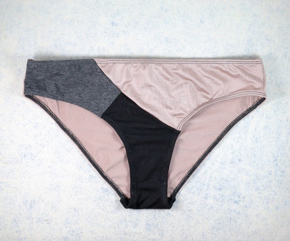 MEDIUM - EVI panties , unique, upcycle and handmade in Montreal