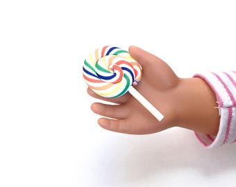 AG Doll Rainbow Swirl Lollipop