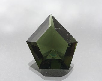 Moldavite Cut  from  Czech Republic , 15.98 ct