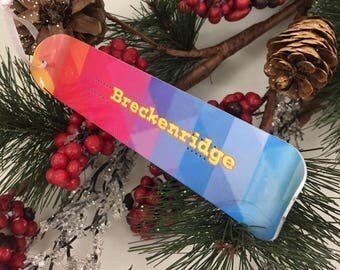 Snowboard Ornament, Custom Personalized , Holiday Decoration, Teenager Gift, Winter Vacation Memory