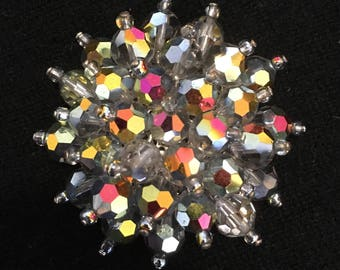Multi Color Glass Stone Broach