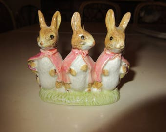 BEATRIX POTTER FLOPSY Mopsy and Cottontail Figurine