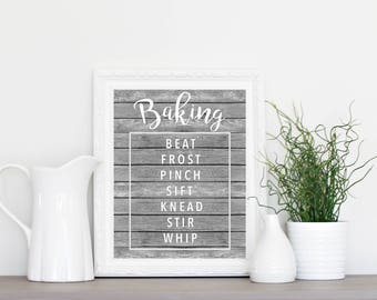 Baking Art Print - Kitchen Art - Wall Art - Kitchen Decor - Baking Decor