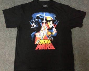Rare Vintage STAR WARS Tshirt Sz L