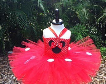 Minnie Mouse tutu dress, Minnie Mouse tutu, Red Minnie dress, Red Minnie tutu, Minnie tutu dress, Minnie Mouse costume