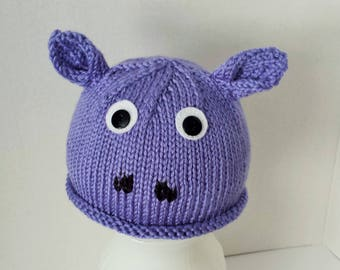 Hippo Hat for Baby 1 to 3 Years Old
