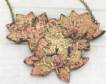 Copper and Gold Leaf Bloom