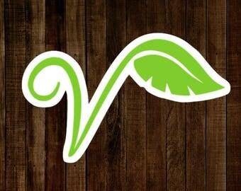 Vegan / Vegetarian Sticker  ( Animal Rights, Vegan Gift, Vegetarian Gift, Go Vegan, Activist, Decals for Laptops, Computers, Car Stickers )