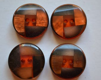 set of 4 resin buttons round fantasy