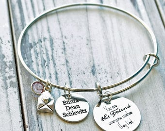 You are The Friend Everyone Wishes They Had Wire Adjustable Bangle Bracelet