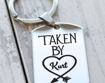 Taken By Girlfriend Personalized Key Chain - Engraved