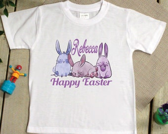 Kids Easter T Shirt - 2-6 Years - Pastel Bunnies