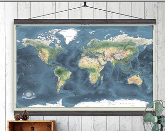 Hanging Map Etsy - 40x60 us maps