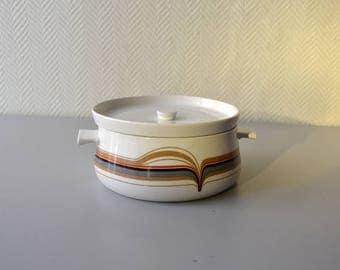 French Paris Porcelain Tureen / flammes decor / vintage 70s