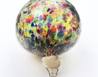 Rainbow Glass Blown Window Ornament 100% One of a Kind Glass Art