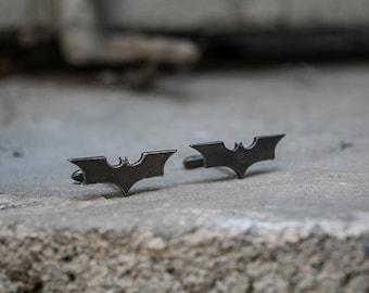 Batman Cufflinks in Brass, Black Rhodium or Silver.