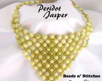 Peridot Jasper Bandana Necklace