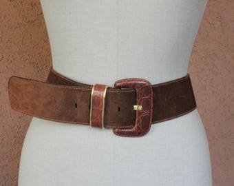 Vintage 1980's Etienne Aigner Suede Leather Belt - Size S