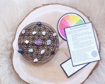 Crystal Grid complete set, crystal grids - Flower Of Life