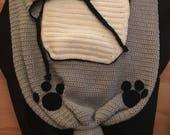 Luxury Crochet Fox Baby Cocoon  Hat set  Christening Baby Shower Photoprop