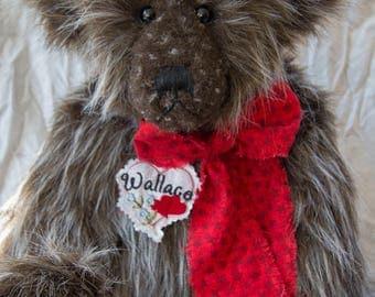 "Wallace Bear 22"" Faux Fur Artist Teddy Bear by Patricia Bruce"