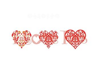 Pyrex Friendship heart vinyl decal