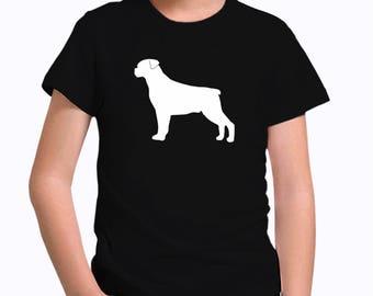 Rottweiler silhouette Children T-Shirt