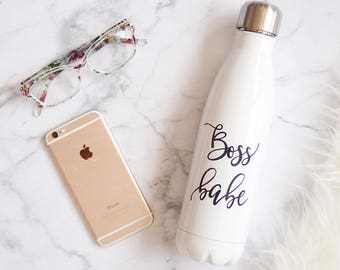 Boss Babe Bottle Travel Mug | Boss Babe Water Bottle | Gift for Boss | Boss Gift