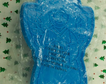 Collectable Current Inc. Large Blue Angel Plastic Christmas Imprint Cookie Cutter Taiwan
