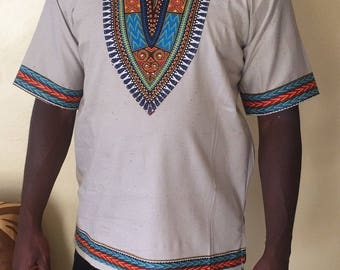 Dashiki shirt in linen
