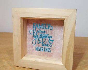Wooden Frame with Quote