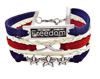 USA Bracelet, Patriotic Bracelet, 4th Of July Outfit Accessories, Star Bracelet, Patriotic Jewelry, Red White and Blue Jewelry, Gift for Her