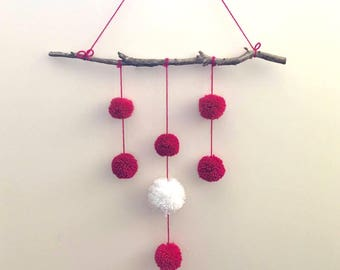 Feminine Pompom Wall Hanging