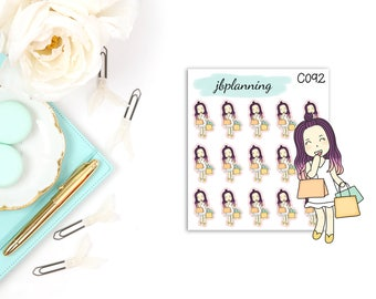 Audrey Does Some Retail Therapy | Character Stickers | C092