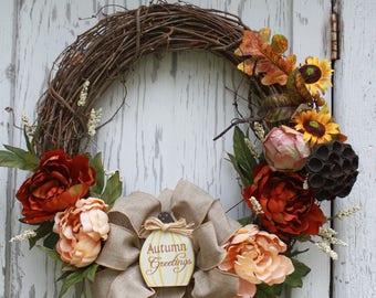 autumn Greetings wreath