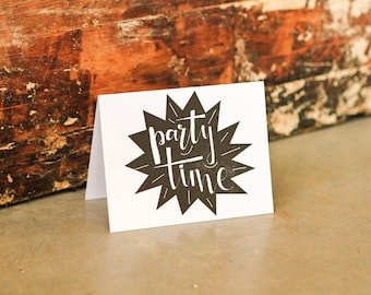 Party Time letterpress greeting card