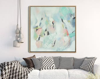 Abstract Art Print , Soft Palette,  Abstract Giclee Print , Modern Wall Art, Abstract Expressionist Art, Wall Decor